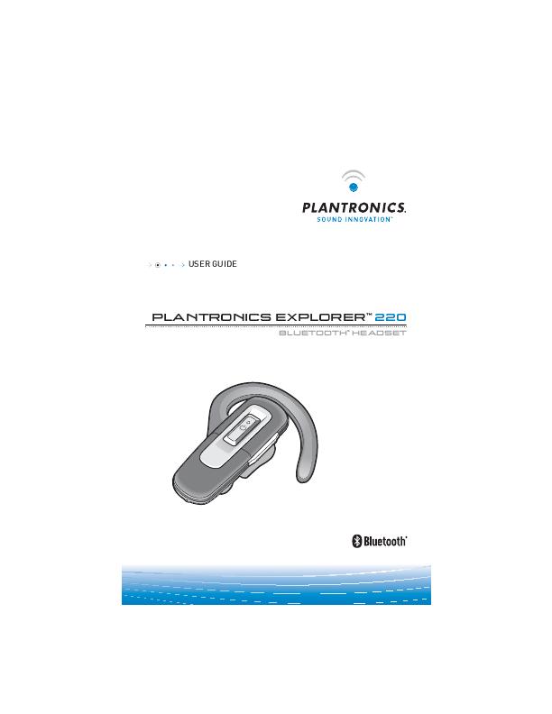 Plantronics 220 инструкция