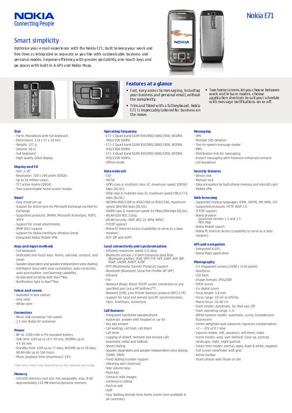 search nokia nokia vcr user manuals manualsonline com rh tv manualsonline com Nokia E72 Nokia E75