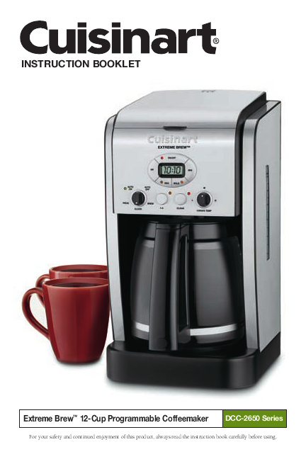 Cuisinart Coffee Maker Dcc 1200 Manual : My blog