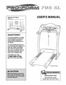 ProForm User Manual Treadmill PFTL69211
