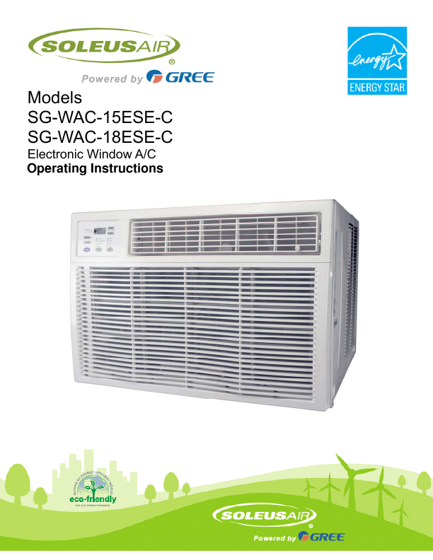 soleus air soleusair powered by gree electronic windows ac sgwac 15esec