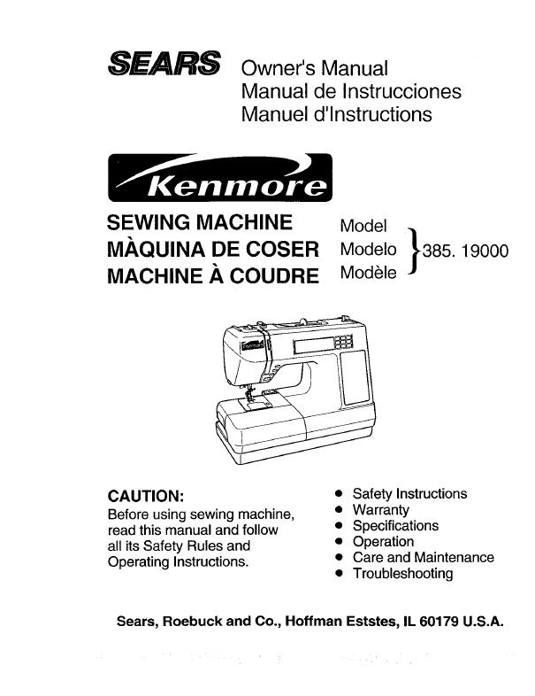 kenmore 15408 sewing machine