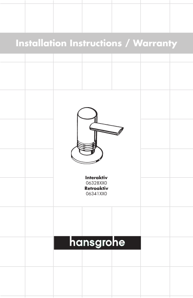 Hans Grohe Plumbing Product 06328XX0 User 39 S Guide
