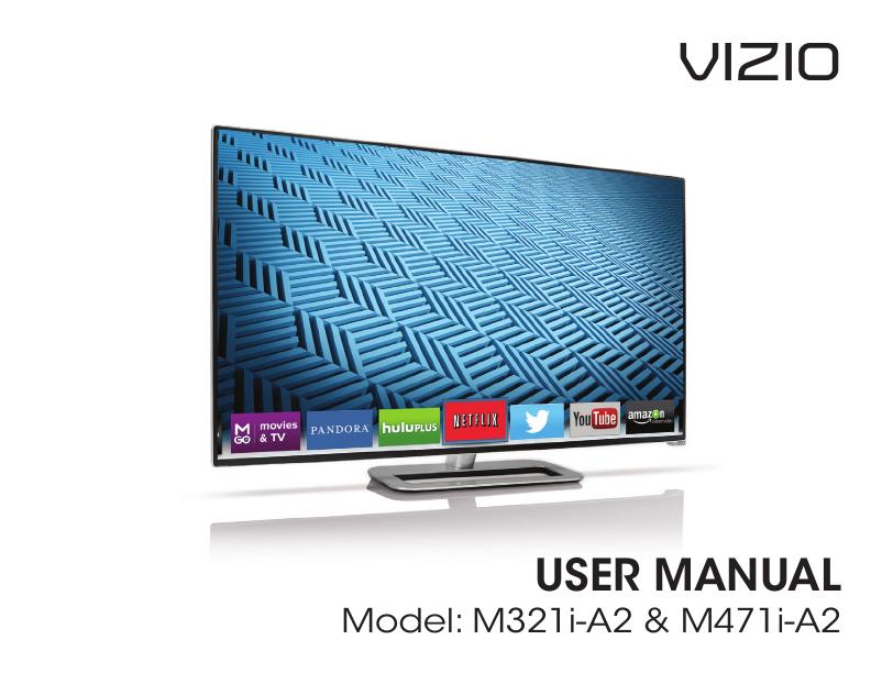 search vizio lcd hdtv user manuals manualsonline com rh tv manualsonline com 47 Inch Vizio TV Manual Back View Vizio 55 Razor LED