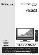 Emerson 32 inch Digital / Analog LCD TV Owner's Manual LC320EM8