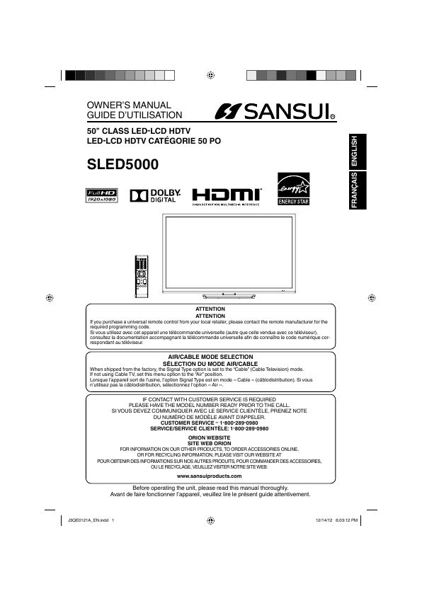 search manual user manuals manualsonline com rh tv manualsonline com Universal Remote for Sansui TV Sansui Sledvd244 Manual