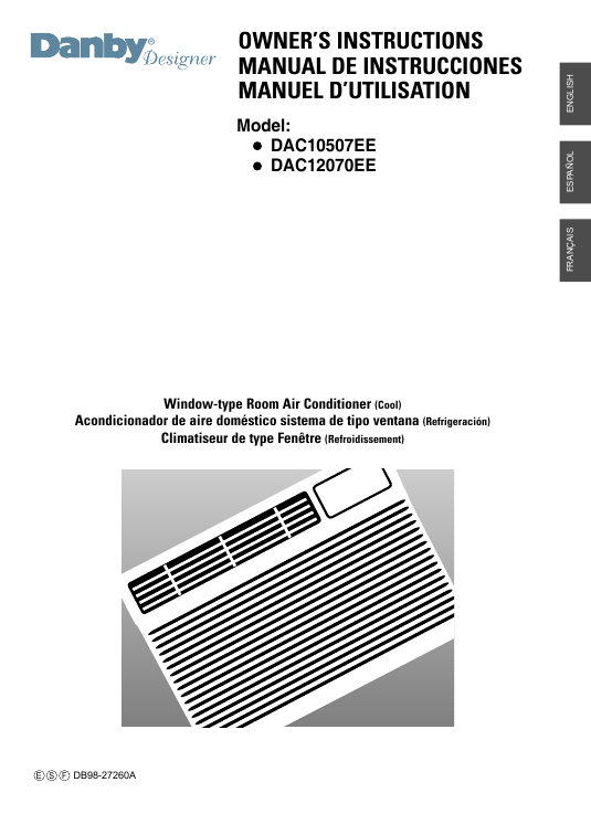 search air conditioner filter user manuals manualsonline com rh manualsonline com Danby 12 000 BTU Air Conditioner Manuals Danby Portable AC Manual