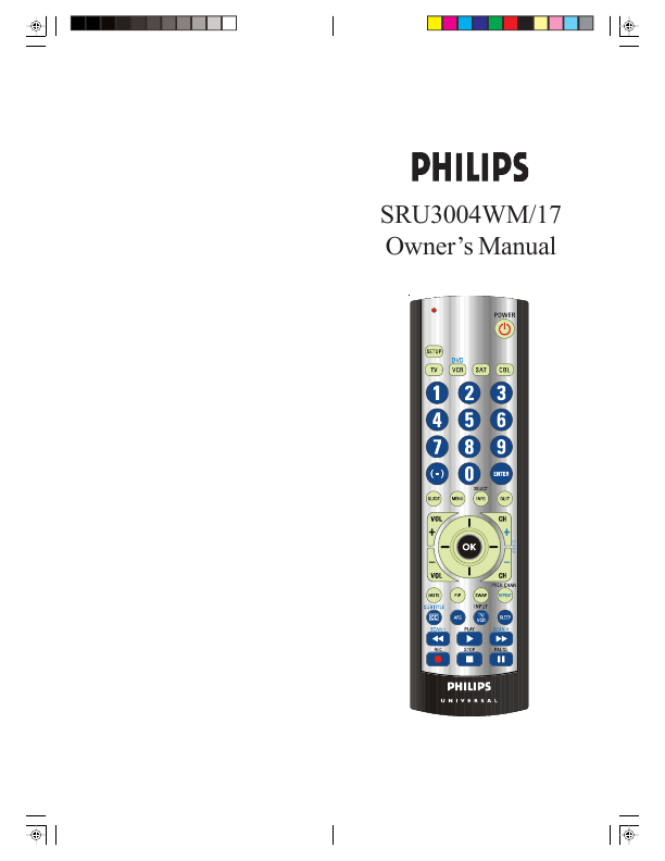 Philips Universal Remote Control Owner's Manual