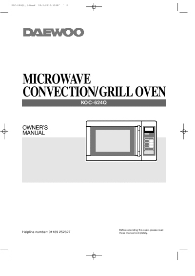 Kenmore Microwave Convection Owner Manuals