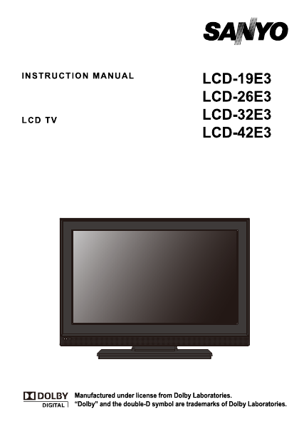 search sanyo tv user manuals manualsonline com rh tv manualsonline com DP42841 Sanyo Replacement Speakers Sanyo TV Base Replacement Stand