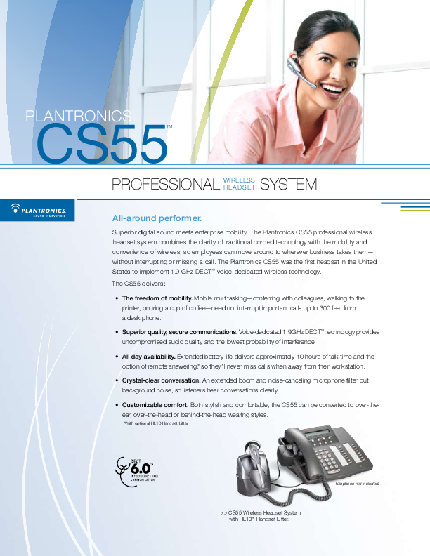 Plantronics cs55 manual
