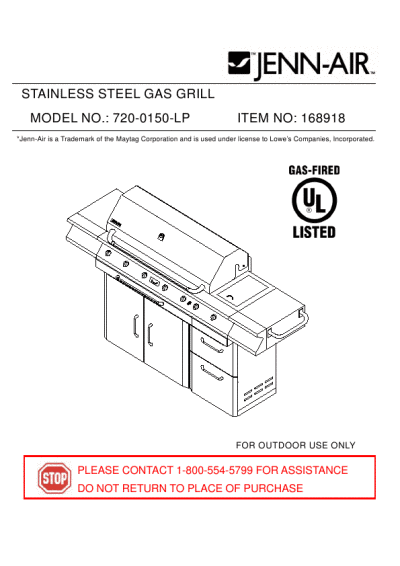 Jenn-Air STAINLESS STEEL GAS