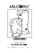 Mr. Coffee Instructions Manual The Ice Tea Pot TM20