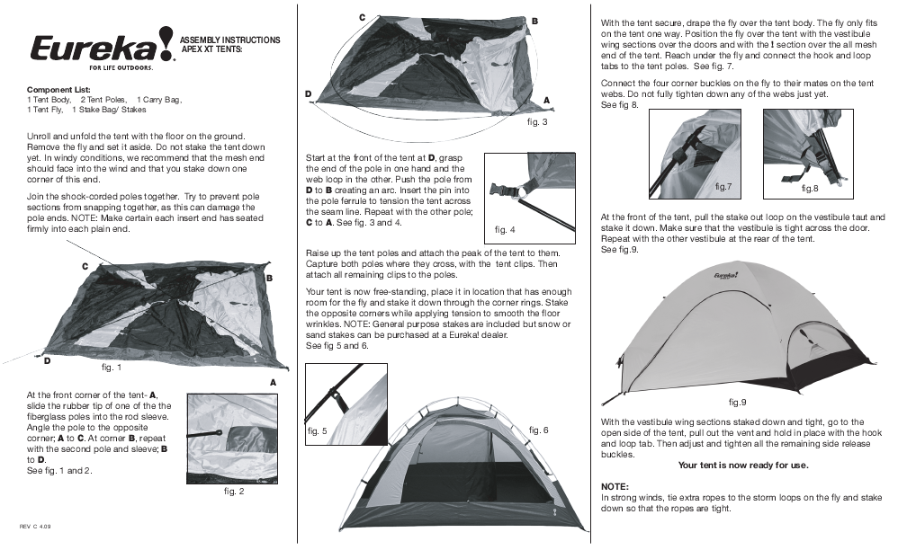 Eureka! Tents Apex XT  sc 1 st  ManualsOnline.com & Search eureka User Manuals | ManualsOnline.com