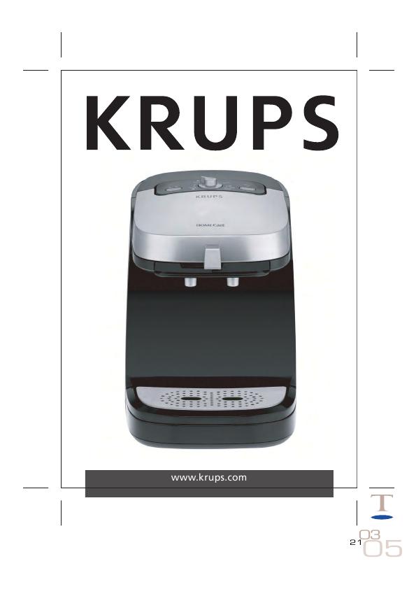 Krups Coffee Maker Repair Manual : Krups xp 320 manual
