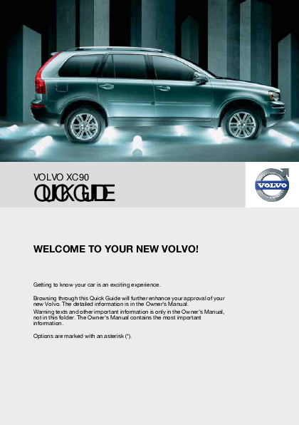Contents contributed and discussions participated by christina hunt volvo xc90 2008 owners manual fandeluxe Gallery