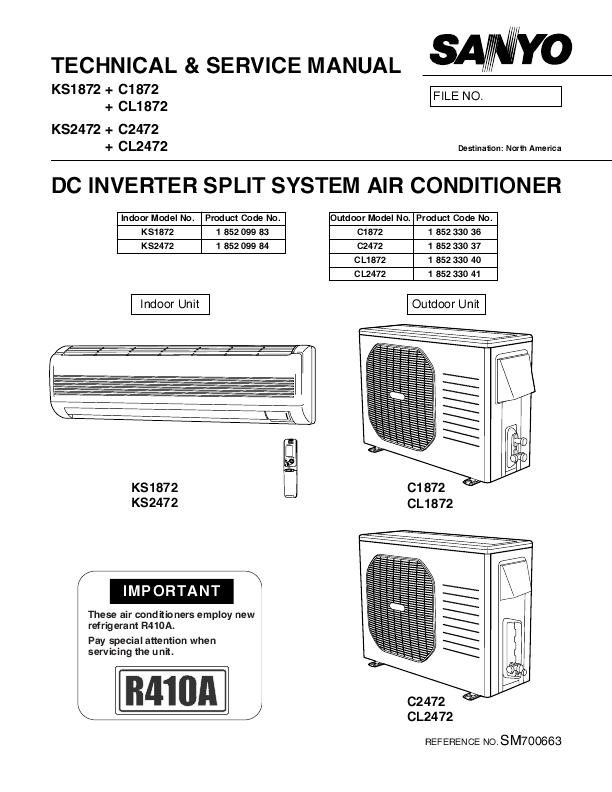 sanyo air conditioner remote control manual