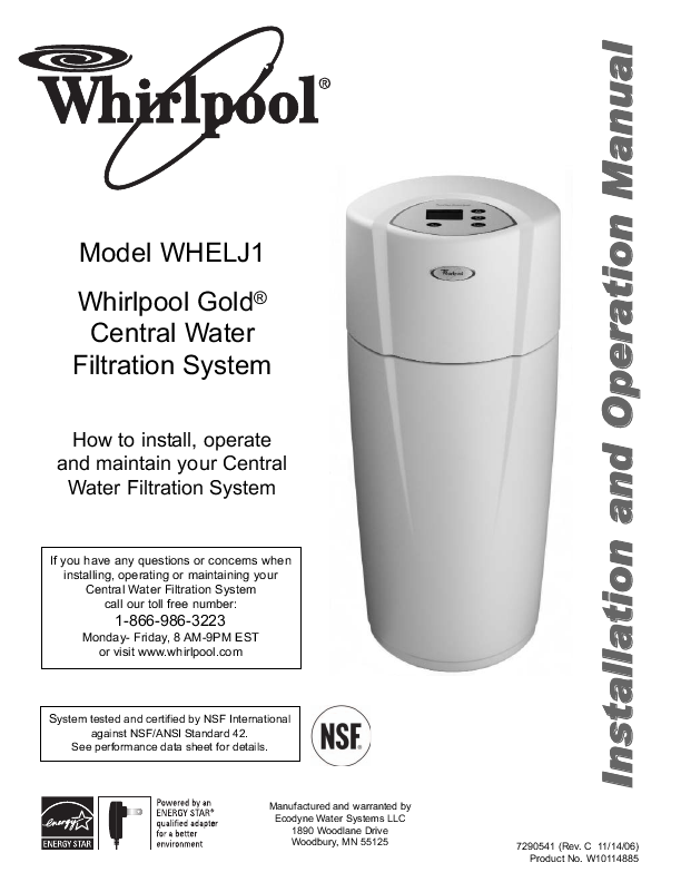 Whirlpool® UltraEase™ Filters provide you with water that's as cold and refreshing as bottled water with only a push of a button.