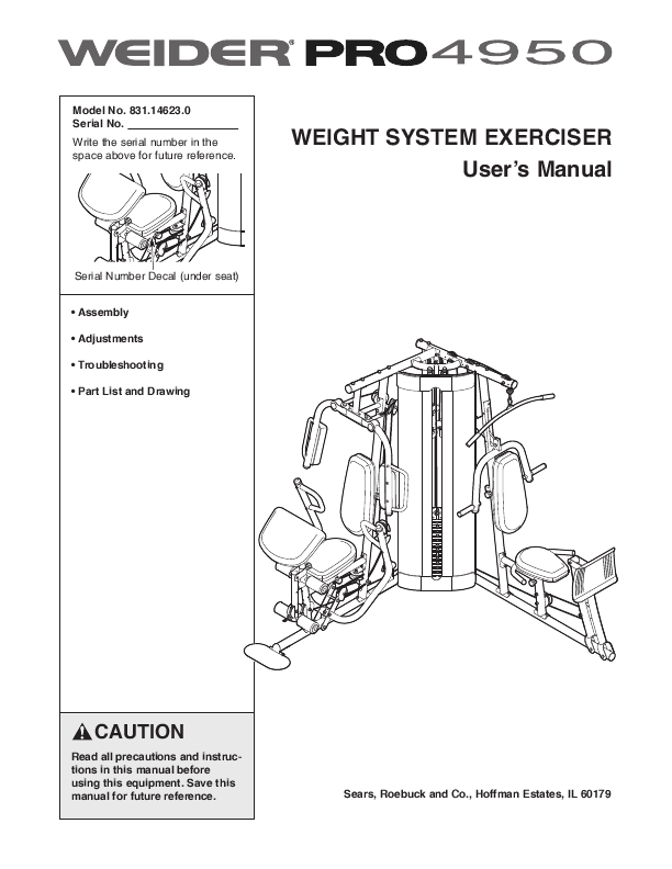 Search Weider Pro Home Gym User Manuals Manualsonline