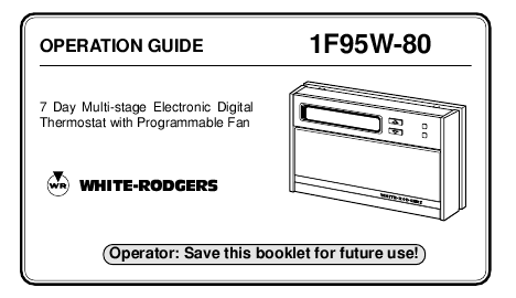 old white rodgers thermostat manual