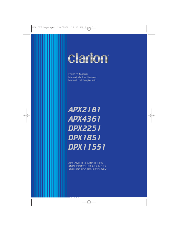 Clarion APX2181