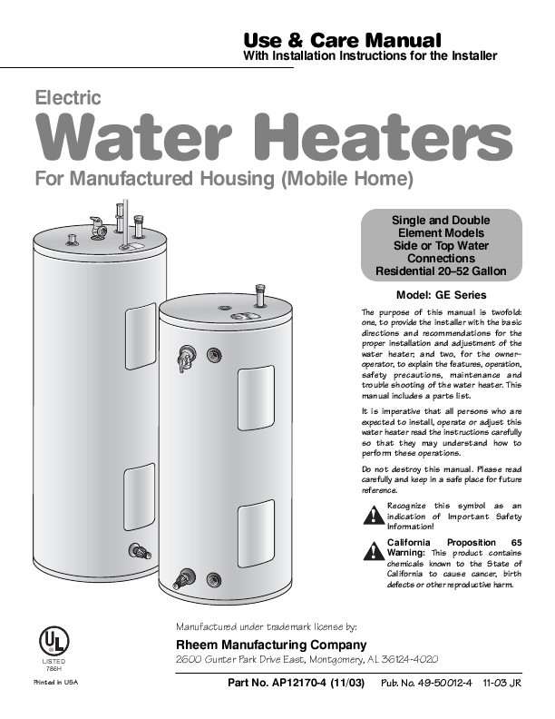 similiar ge water heater manual keywords general electric water heater use and care manual