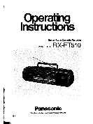 Panasonic Stereo Radio Cassette Recorder Operating Instructions