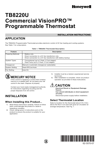 honeywell thermostat rlv430 user manual