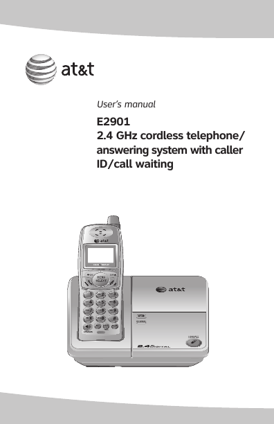 at t cordless telephone e2901 user 39 s guide. Black Bedroom Furniture Sets. Home Design Ideas