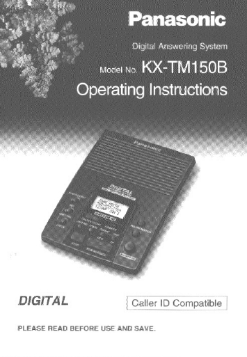 search cassette user manuals manualsonline com rh manualsonline com panasonic answering machine manual kx-tga470 panasonic 6.0 answering machine manual
