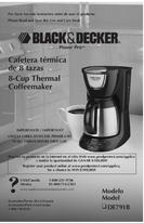 Black & Decker 8-Cup Thermal Coffeemaker User Manual