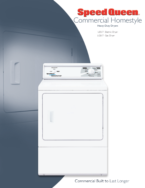 Speed Queen (Amana) Dryer AGM479W2 Service Manual in PDF format