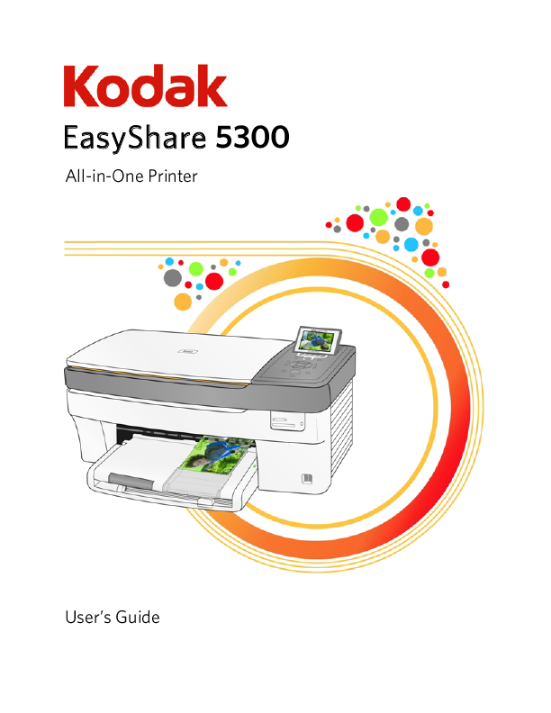 kodak user s guide printer 5300 manualsonline com Owner's Manual Kodak EasyShare Kodak EasyShare Printer