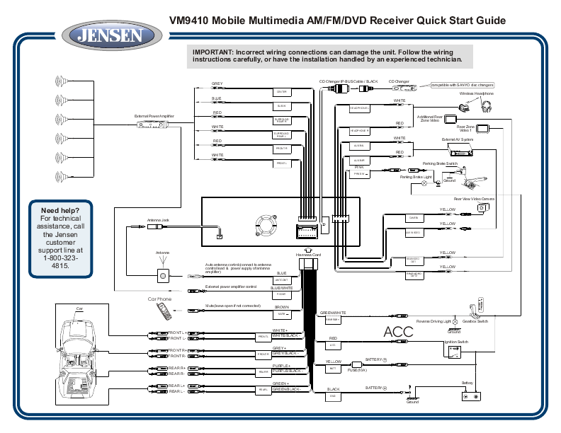 jensen car audio wiring diagrams  wiring diagram operation