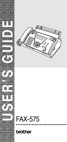 brothers 575 fax machine manual