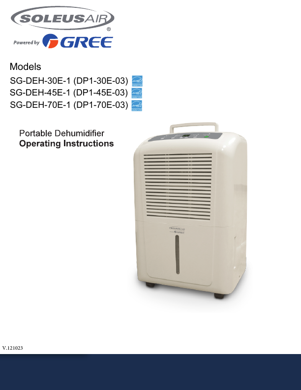 Search whole house Dehumidifier User Manuals | ManualsOnline.com