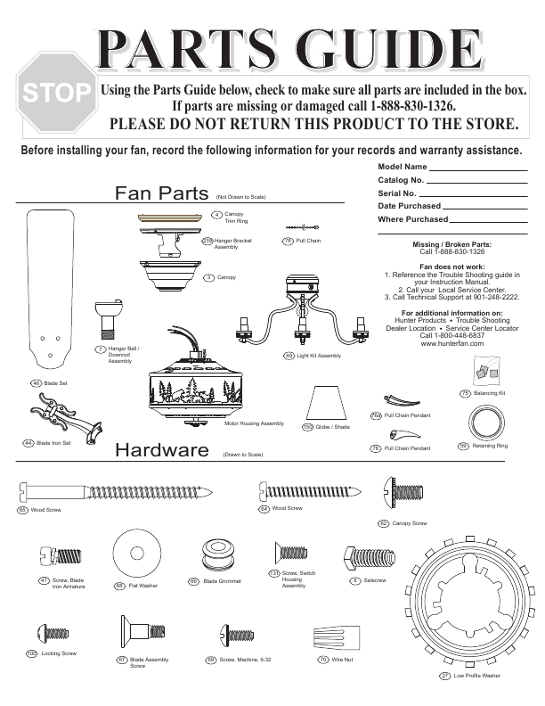 Allen Roth 24 Ceiling Fan Replacement Parts likewise Ceiling Fan Parts ...
