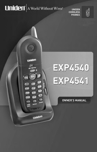 search uniden uniden cordless telephone 10 user manuals rh manualsonline com Uniden ELT560 Cell Phone Home uniden dect1580 manual