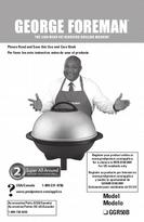 George Foreman Super All-Around Indoor/Outdoor Grill Use and Care Manual