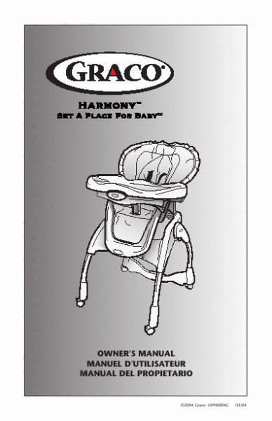 Graco High Chair RECALL 2010: Harmony Chairs Recalled