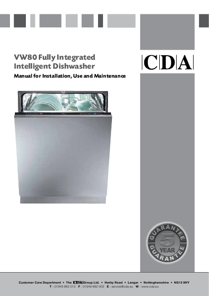 Search undercounter user manuals manualsonline cda fully integrated vw80 sciox Choice Image