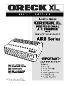 Oreck Air Purifier USER'S GUIDE AIR8 Series