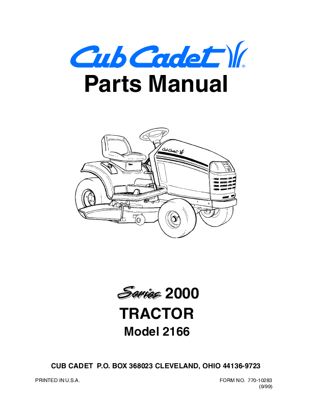 cub cadet lawn mower 2166 user u0026 39 s guide