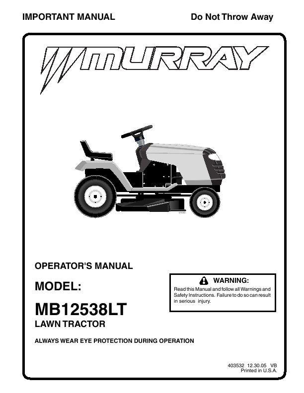 murray riding lawnmower manuals lawnmowers snowblowers rh spartakirada com Murray Lawn Mower Repair Manual murray lawn mower owners manual pdf