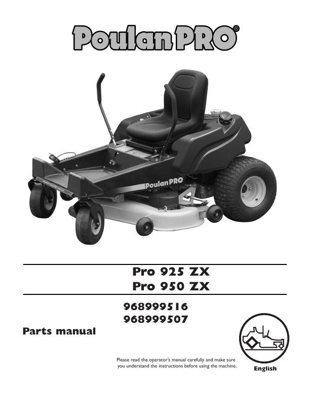 poulan pro lawn tractor parts manual