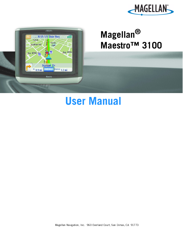search gps user manuals manualsonline com rh manualsonline com Magellan Maestro GPS Manual magellan maestro 3200 manual