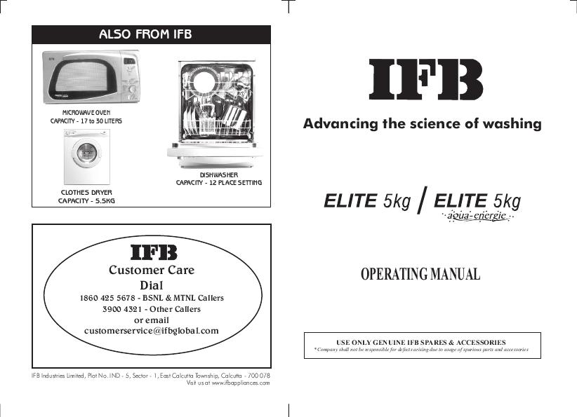 Se Ifb User Manuals Manualsonline. Ifb Appliances Elite 5 Kg. Wiring. Ifb Elena Washing Machine Wiring Diagram At Eloancard.info