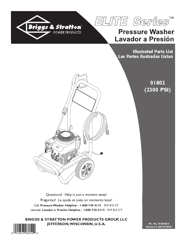 briggs and stratton 675 series pressure washer owners manual how