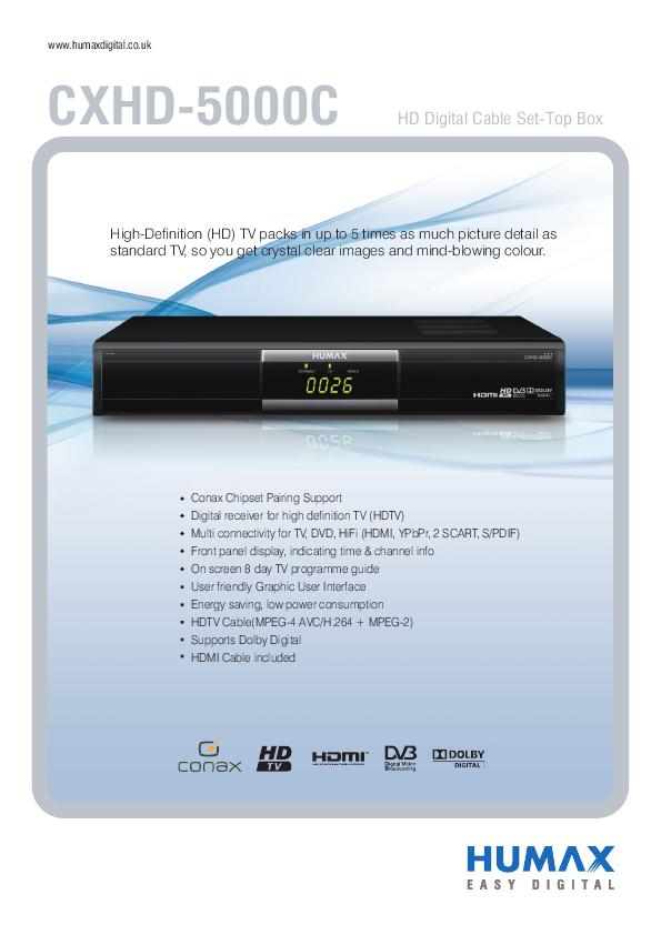 humax hdr 7500t user manual