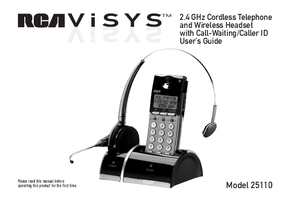 rca 2 4 ghz cordless telephine and wireless headset with call waiting  caller id user s guide RCA Alarm Clock Radio Manuals RCA Alarm Clock Radio Manuals